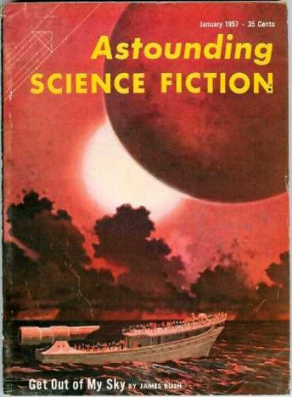 Astounding Stories 314 - Boat - Planet - Clouds - Ship - Telescope