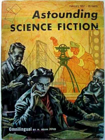 Astounding Stories 315 - February 1957 - Astounding - Science Fiction - Omnilingual - H Beam Piper