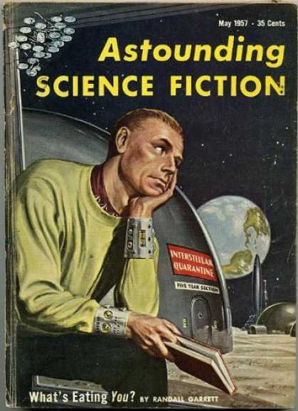 Astounding Stories 318 - May 1957 - Whats Eating You - Garrett - Astronaut - Earthscape