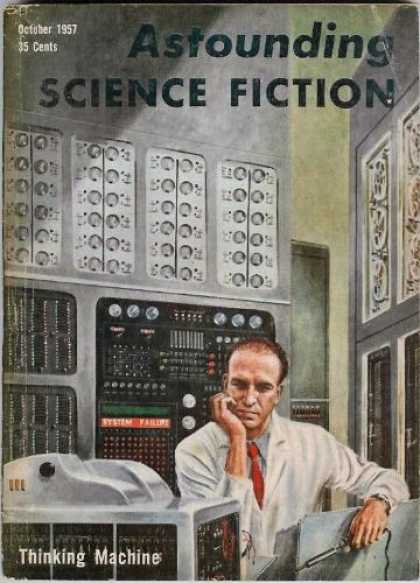 Astounding Stories 323 - Computer - Scientist - October 1957 - Thinking Machine - Mathematics