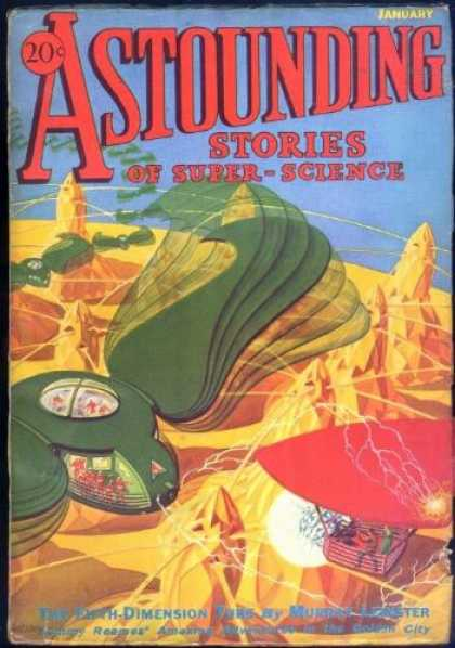 Astounding Stories 33 - Astounding Stories Of Super Science - January - 20 Cents - The Fifth Dimension - Planet