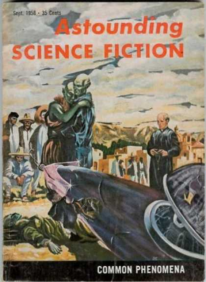 Astounding Stories 334 - September 1958 - Common Phenomena - Humanoids - Space Craft - Town