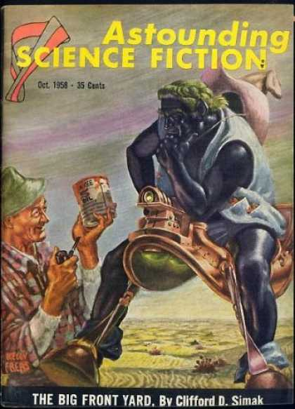 Astounding Stories 335 - Saddle - Pipe - The Big Front Yard - October 1958 - Planet