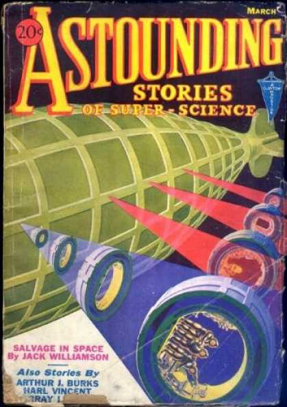 Astounding Stories 34 - Spacehip - Blimp - Triangle - March - 20 Cents
