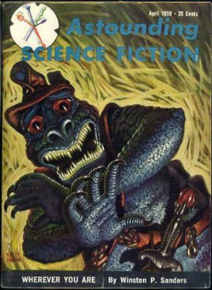 Astounding Stories 341 - April 1959 - Monster - Aliens - Author Sanders - Sci-fi Warrior