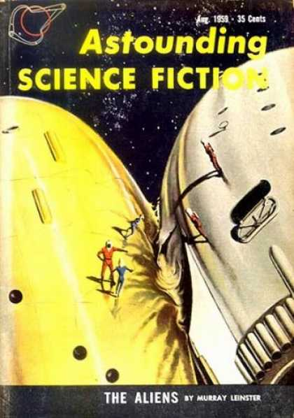 Astounding Stories 345 - August 1959 - Astronaut - Deep Space - Collision - Investigation