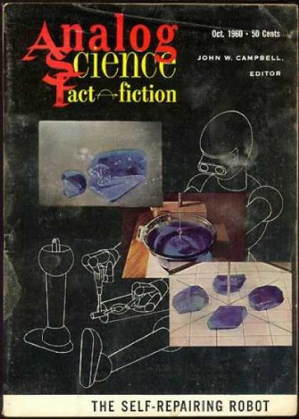 Astounding Stories 359 - Space Robot - Fixing Leg - Machine Parts - Futuristic Designs - 3d Drawings