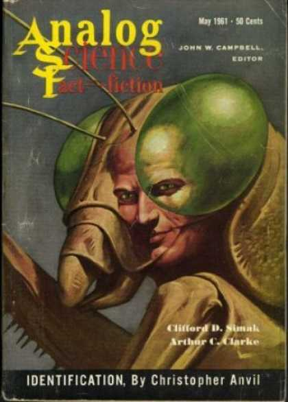 Astounding Stories 366 - Indentification - May 1961 - Praying Mantis - Man - Insect