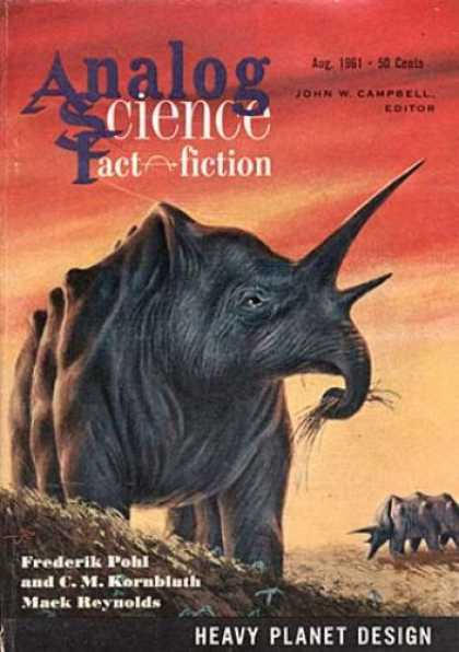Astounding Stories 369 - August 1961 - John W Campbell - Heavy Planet Design - Frederick Pohl - C M Kornbluth