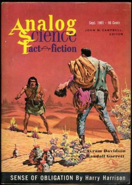 Astounding Stories 370 - Desert - September 1961 - Caveman - John Campbell Editor - Hero