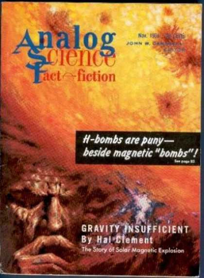Astounding Stories 372 - Clement - Gravity Insufficient - November 1964 - H-bombs - Orange Cover