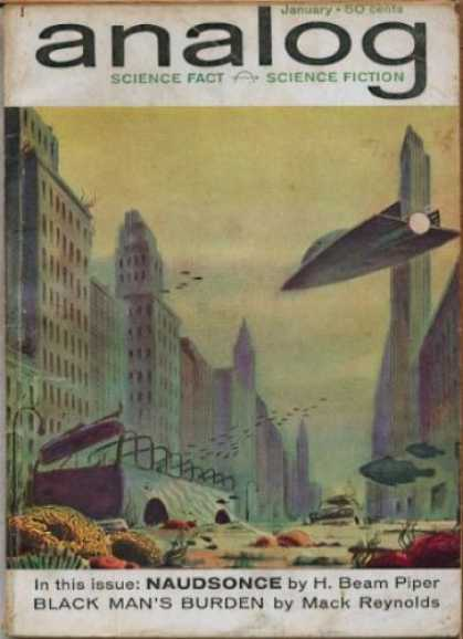 Astounding Stories 374 - January - Naudsonce - Space Craft - City - Debris