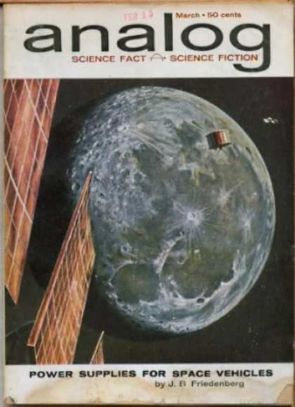 Astounding Stories 376 - Moon - Solar Panels - Analog - Science - Science Fiction