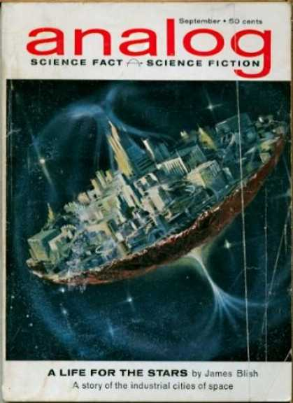 Astounding Stories 382 - Life For The Stars - Science Fiction - Cities In Space - Septemver - Space