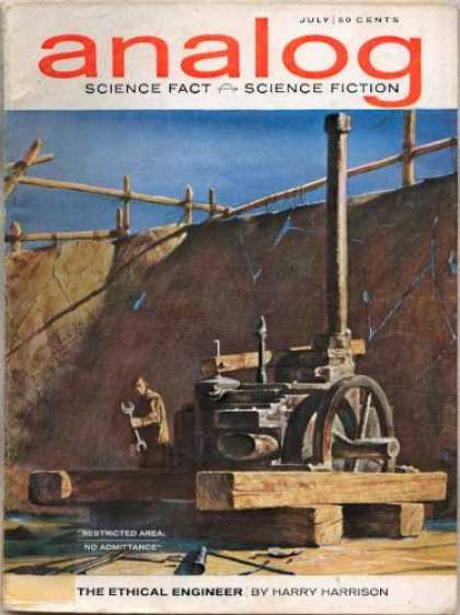 Astounding Stories 392 - Restricted Area - The Ethical Engineer - Harry Harrison - July - Fence