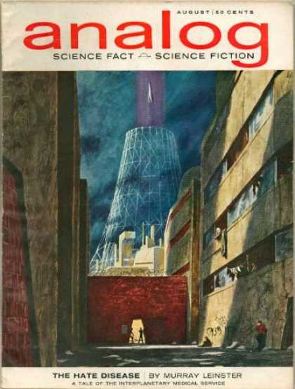 Astounding Stories 393 - August - The Hate Disease - Leinster - Cityscape - Power Plant