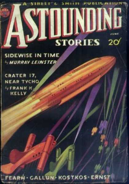 Astounding Stories 43 - Sidewise In Time - June - Shuttles - Space - Beams