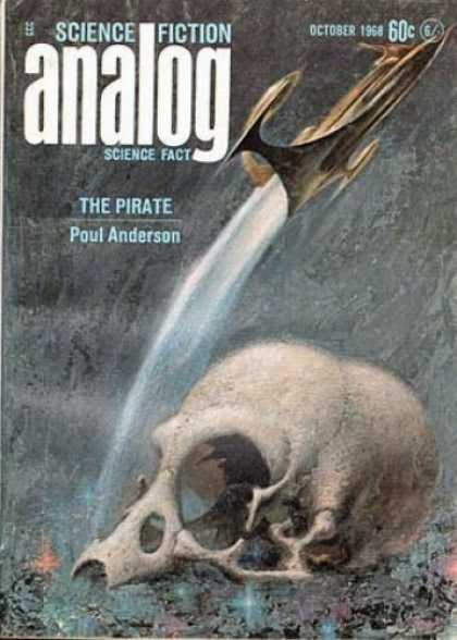 Astounding Stories 455 - The Pirate - Poul Anderson - October 1968 - Rocket Ship - Skull