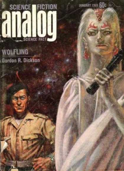 Astounding Stories 458 - Sci-fi - Wolfling - Dickson - January 1969 - Female Warrior