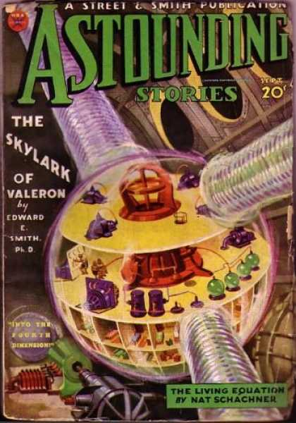 Astounding Stories 46 - Vintage - 20 Cents - The Skylark Of Valeron - Edward C Smith Phd - Into The Fourth Dimension