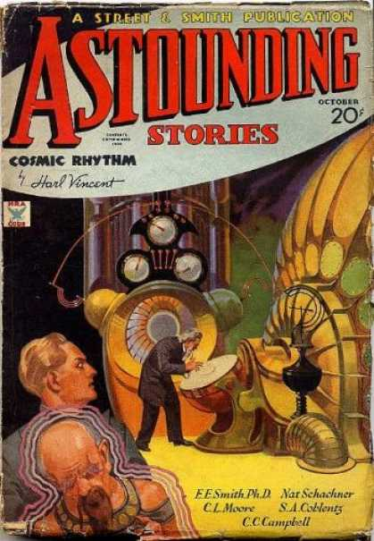 Astounding Stories 47 - Cosmic Rhythm - Harl Vincent - Cc Campbell - Nat Schachner - C L Moore