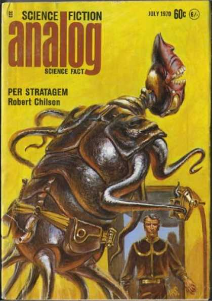 Astounding Stories 476 - Per Strategem - Chilson - Buggy Alien - July 1970 - Yellow Cover