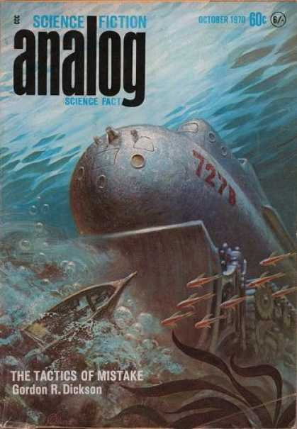 Astounding Stories 479 - Submarine - The Tactics Of Mistake - October 1970 - Deep Sea - Boat