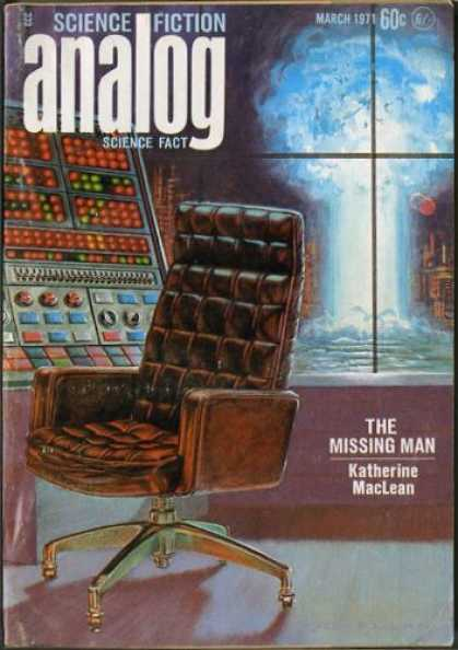 Astounding Stories 484 - March 1971 - The Missing Man - Maclean - Empty Chair - Control Panel