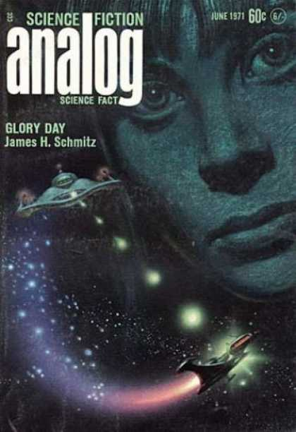 Astounding Stories 487 - Glory Day - June 1971 - Space - Space Craft - Girls Face