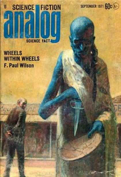 Astounding Stories 490 - Knife - Bald - Wheels Within Wheels - September 1971 - F Paul Wilson