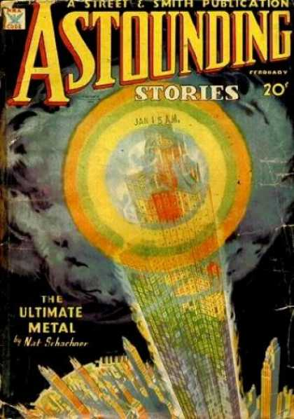 Astounding Stories 51 - Skyline - Skyscraper - Jan 15 Am - The Ultimate Metal - Nat Schacher