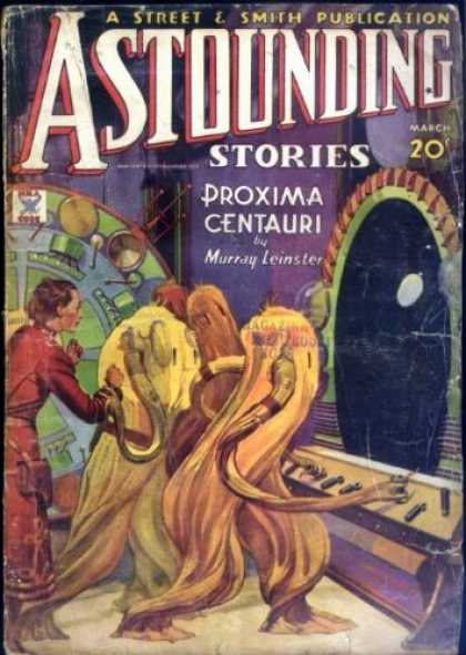 Astounding Stories 52 - Proxima Centauri - Street U0026 Smith Publication - Murray Leinster - March - 20 Cents