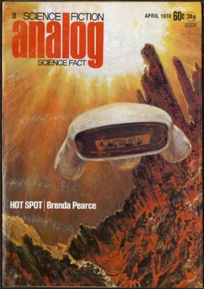 Astounding Stories 521 - Hot Spot - April 1974 - Space Craft - Planet - Canyons