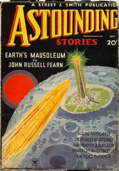 Astounding Stories 54 - Mausoleum - Sun - Donald Wandrei - 20 - Earths Mausoleum