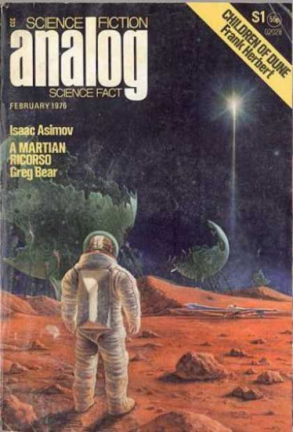 Astounding Stories 543 - February 1976 - Planet - Red Rubble - Astronaut - Star