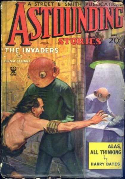 Astounding Stories 55 - The Invaders - Humanoids - Laboratory - Man - Barbarian