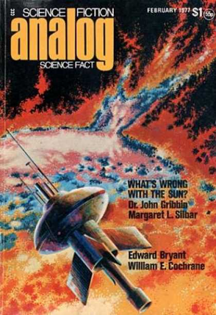 Astounding Stories 555 - February 1977 - Whats Wrong With The Sun - Fire - Planet - Space Craft