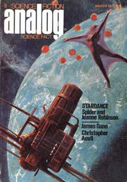 Astounding Stories 556 - Stardance - Spider Robinson - James Gunn - Space Dancer - March 1977