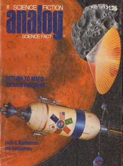Astounding Stories 558 - Return To Mars - May 1971 - Orange Planet - Fan - Space Capsule