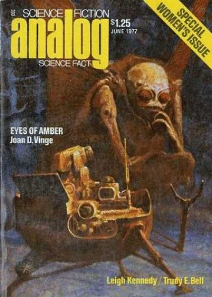 Astounding Stories 559 - June 1977 - Eyes Of Amber - Robot - Creature - Monster