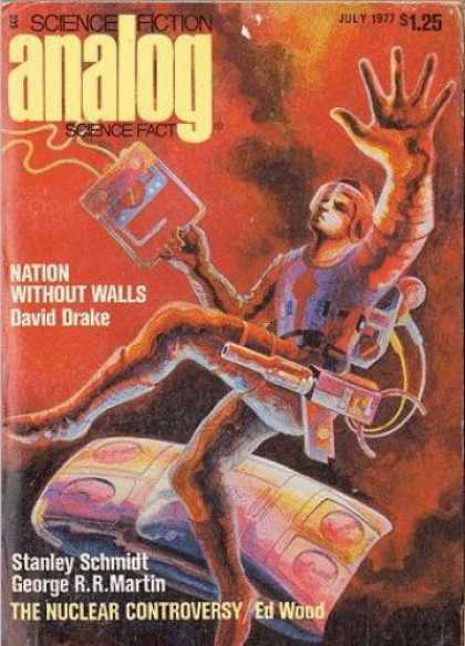 Astounding Stories 560 - July 1977 - Nation Without Walls - Space - Space Man - Gear