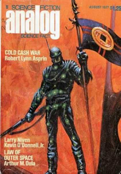 Astounding Stories 561 - August 1977 - Cold Cash War - Suit Of Amor - Flag - Fire
