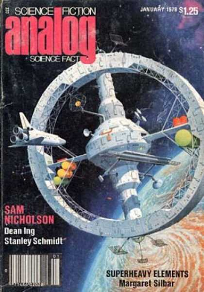 Astounding Stories 566 - Space Shuttle Wheel - January - Superheavy Elements - Nicholson - Ing