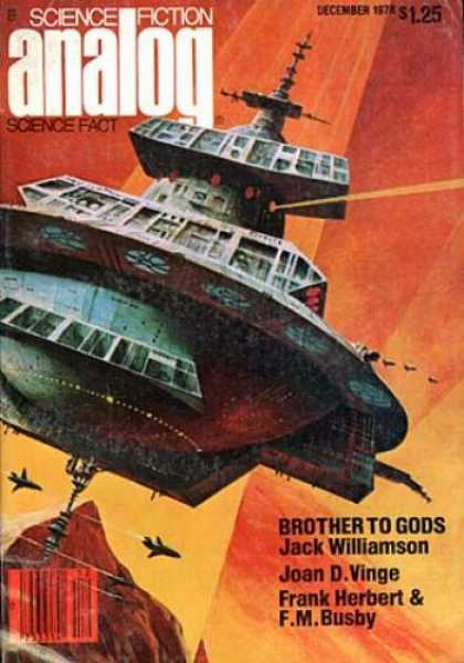 Astounding Stories 577 - Brother To Gods - Herbert - Busby - Spacecraft - December 1978