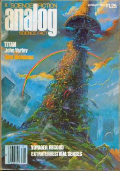Astounding Stories 578 - Titan - Space - Rainbow - Plant - Space Craft