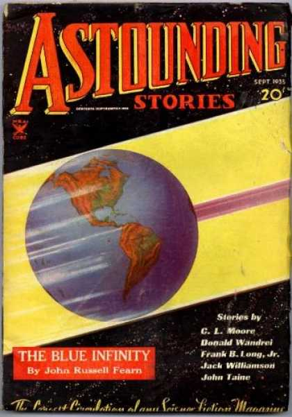 Astounding Stories 58 - September 1955 - The Blue Infinity - C L Moore - John Russell Fearn - Science Fiction