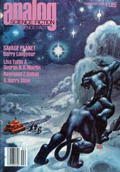 Astounding Stories 591 - Savage Planet - Creature - Ice - Stars - Rover
