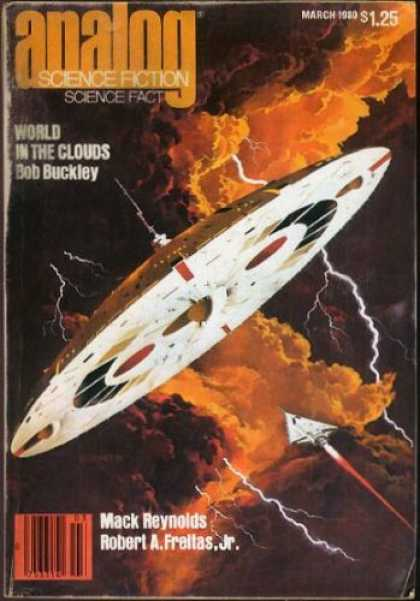Astounding Stories 592 - Lightning - Clouds - Space Ship - Flying Saucer - Stormy Weather