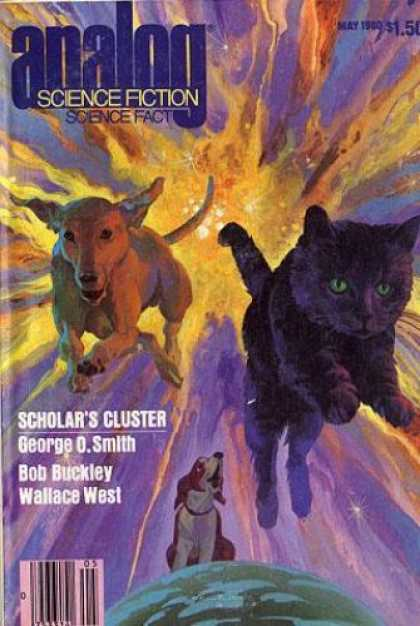 Astounding Stories 594 - Cat And Dog - May 1980 - Explosive Color - Scholars Cluster - Smith