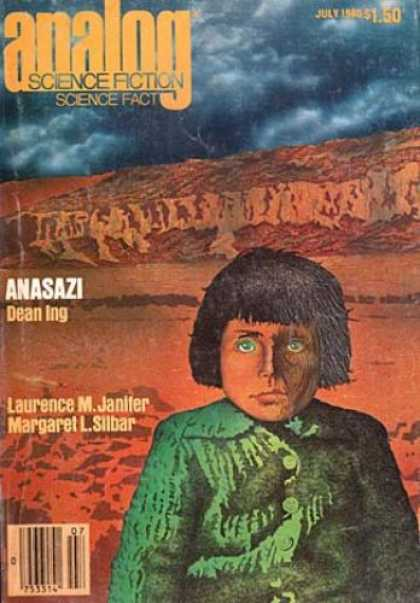 Astounding Stories 596 - July 1985 - Anasazi - Red Canyon - Dark Clouds - Boy